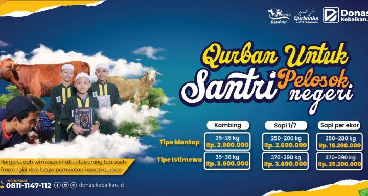 Qurban Untuk Santri Pelosok Negeri